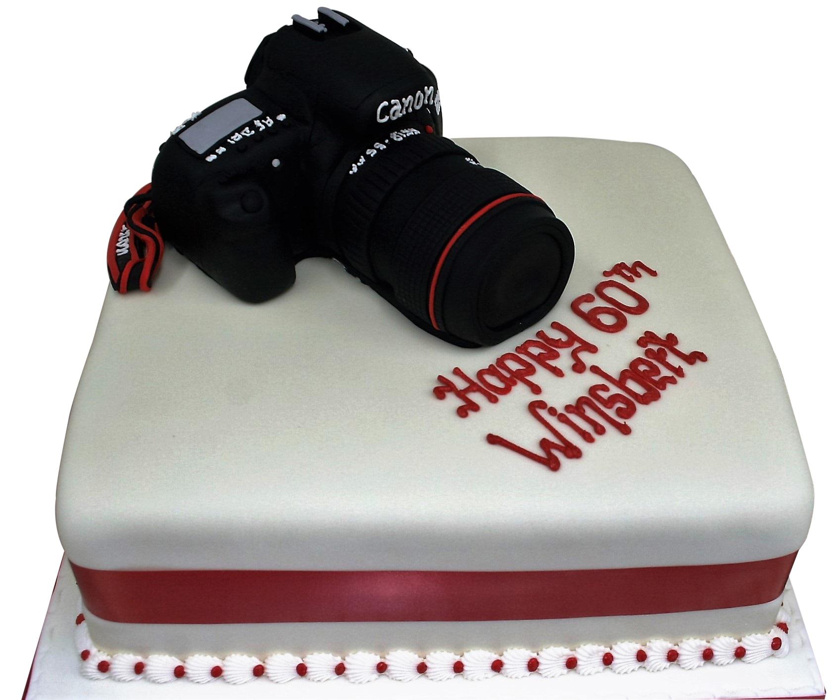Astounding Camera Birthday Cake Eggless Gluten Free Cake Free Uk Delivery Funny Birthday Cards Online Benoljebrpdamsfinfo