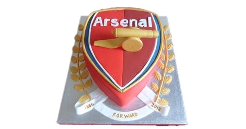 Peachy Arsenal Football Birthday Cake Personalised Birthday Cards Paralily Jamesorg