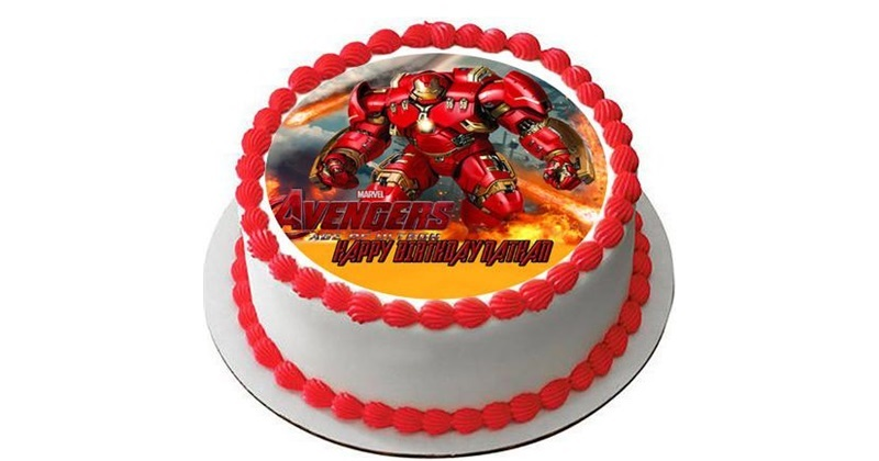 Groovy Avengers Iron Man Birthday Cake Funny Birthday Cards Online Fluifree Goldxyz