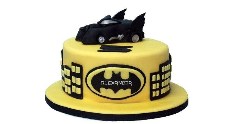 Astonishing Batmobile Batman Birthday Cake Personalised Birthday Cards Veneteletsinfo