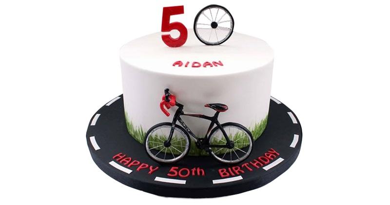 Торт с картинкой велосипед