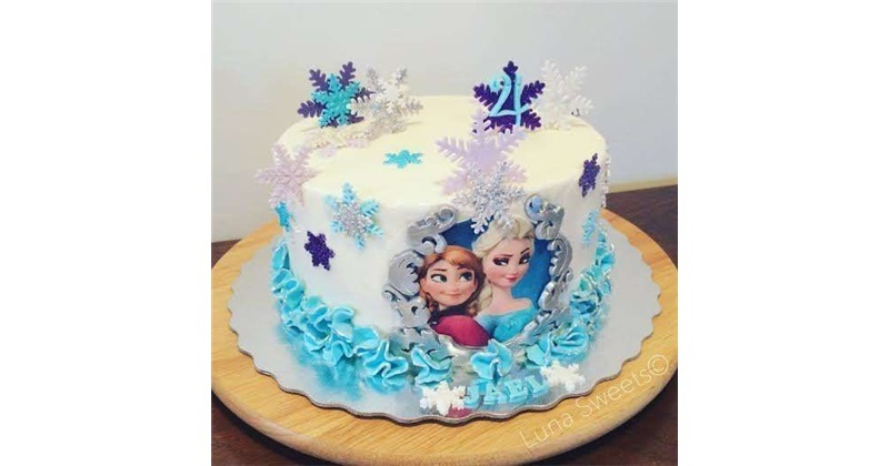 Amazing Frozen Elsa Birthday Cake Funny Birthday Cards Online Overcheapnameinfo