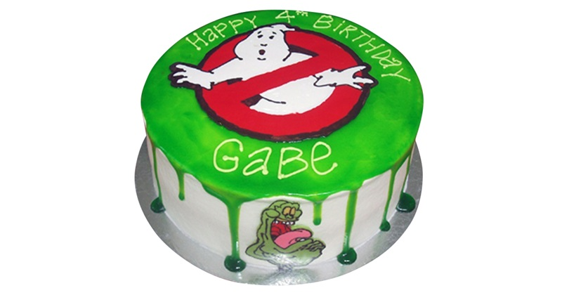 Groovy Ghostbusters Cake Funny Birthday Cards Online Alyptdamsfinfo