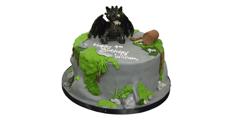 Sensational How To Train Your Dragon Cake Personalised Birthday Cards Veneteletsinfo