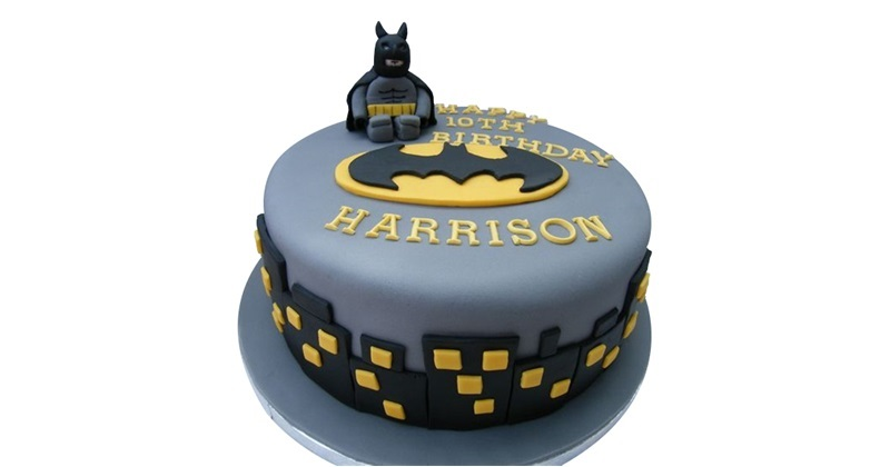 Groovy Miniature Batman Birthday Cake Birthday Cards Printable Opercafe Filternl