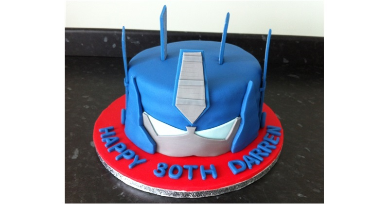 Cool Optimus Prime Cake Personalised Birthday Cards Paralily Jamesorg