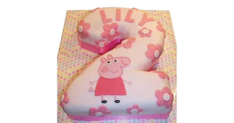 Peppa Pig Number Birthday Cake