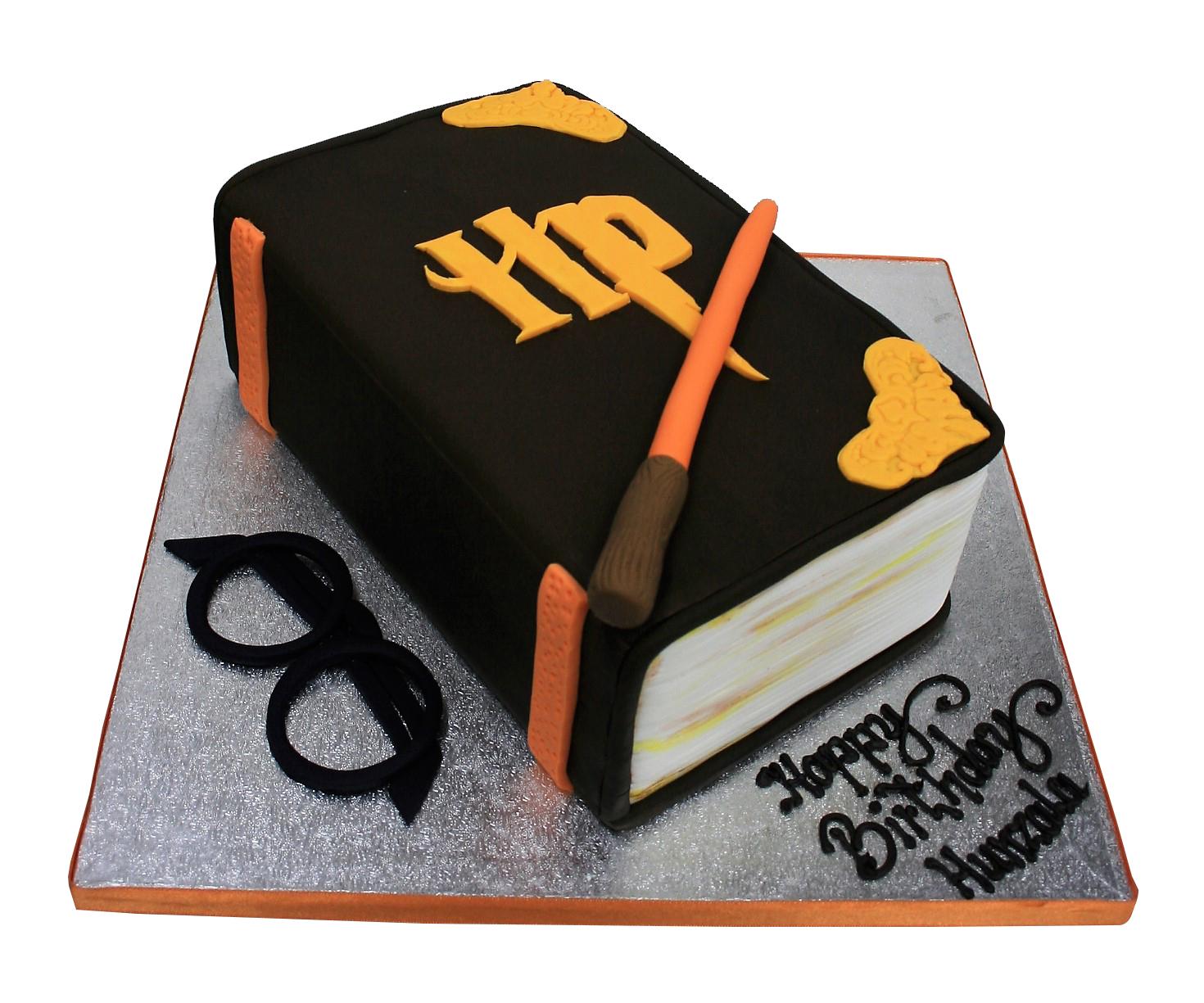 Sensational Harry Potter Book Birthday Cake Funny Birthday Cards Online Alyptdamsfinfo