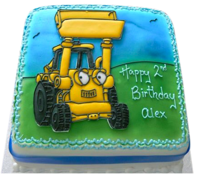 Swell Personalised Bob The Builder Birthday Cake Funny Birthday Cards Online Elaedamsfinfo