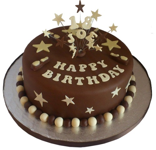 Miraculous 18Th Birthday Cake For A Boy Personalised Birthday Cards Veneteletsinfo