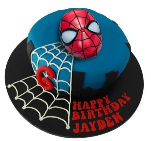 Licensed 3D Light Up Mask Spiderman Birthday Cake