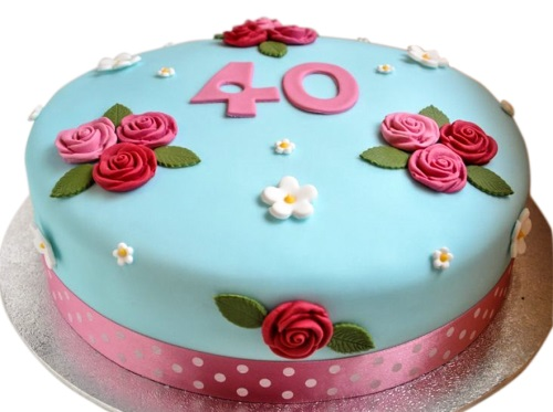Peachy 40Th Birthday Female Cake Funny Birthday Cards Online Elaedamsfinfo