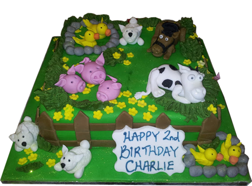 Animal Farm Theme Birthday Cake For Kids