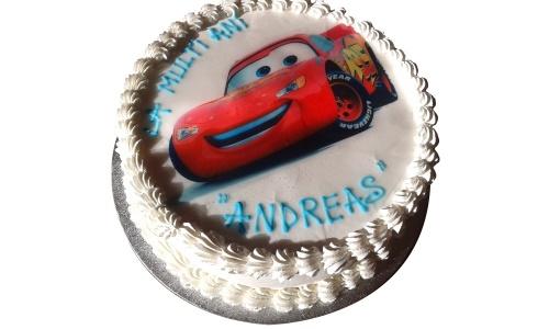 Cars Theme Kids Birthday Cake