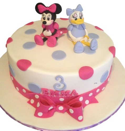 Pleasing Daisy Duck Minnie Mouse Cake Personalised Birthday Cards Paralily Jamesorg