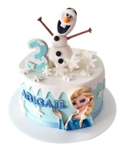 Pleasing Frozen Elsa Birthday Cake Funny Birthday Cards Online Unhofree Goldxyz