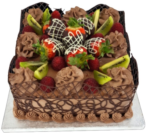 Fruit Chocolate Birthday Cake