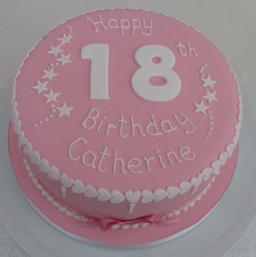 Girls 18 Birthday Cake 14167