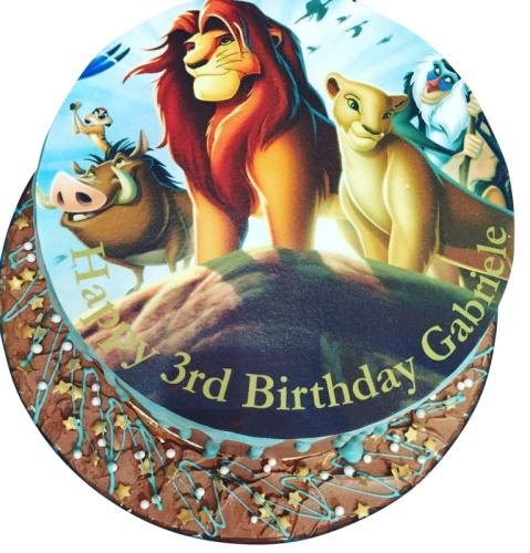 Lion King Themed Birthday Cake For Kids 14388JPG