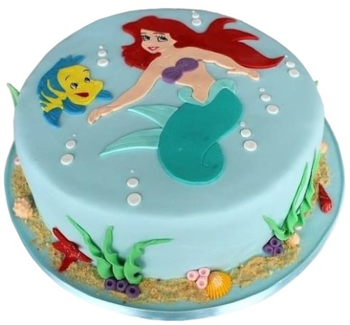 Sensational Princess Ariel Birthday Cake Personalised Birthday Cards Bromeletsinfo