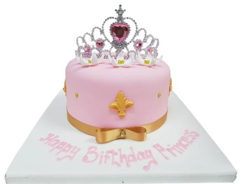 Groovy Princess Tiara Birthday Cake Funny Birthday Cards Online Alyptdamsfinfo