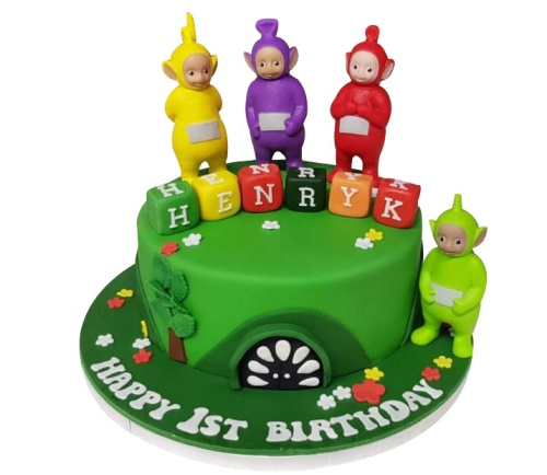 Swell Teletubbies Cake Birthday Cards Printable Nowaargucafe Filternl