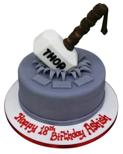 Fabulous Thor Birthday Cake Personalised Birthday Cards Paralily Jamesorg