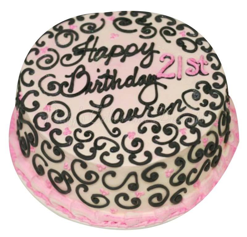 Cool 21St Birthday Cake Girl Personalised Birthday Cards Beptaeletsinfo