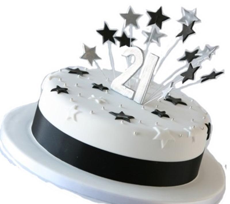 Star Themed 21st Birthday Cake