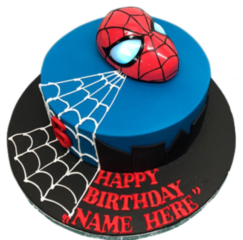 Phenomenal Licensed 3D Light Up Mask Spiderman Birthday Cake Personalised Birthday Cards Paralily Jamesorg