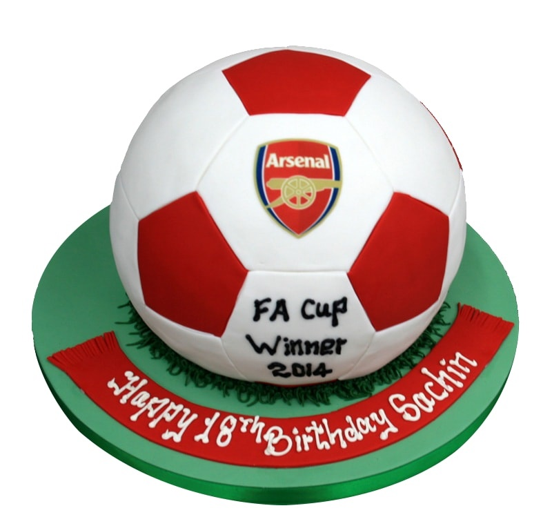 3D Football 18th Birthday Cake