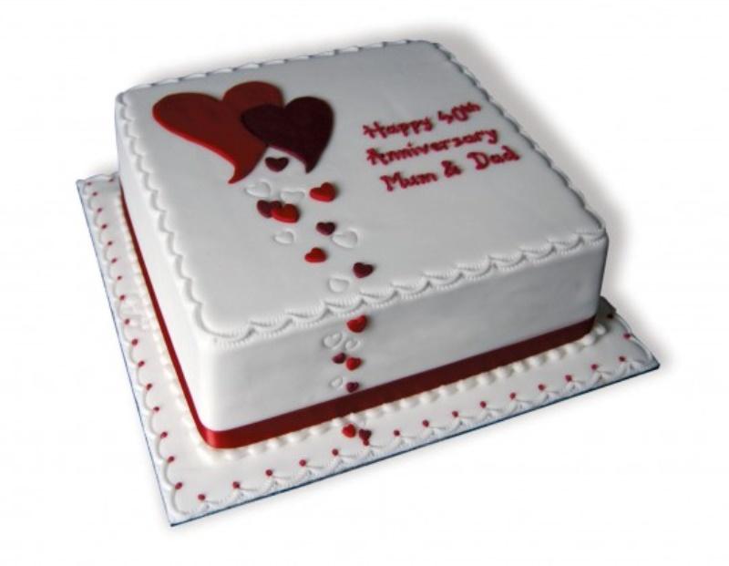 Happy 40th Anniversary Cake