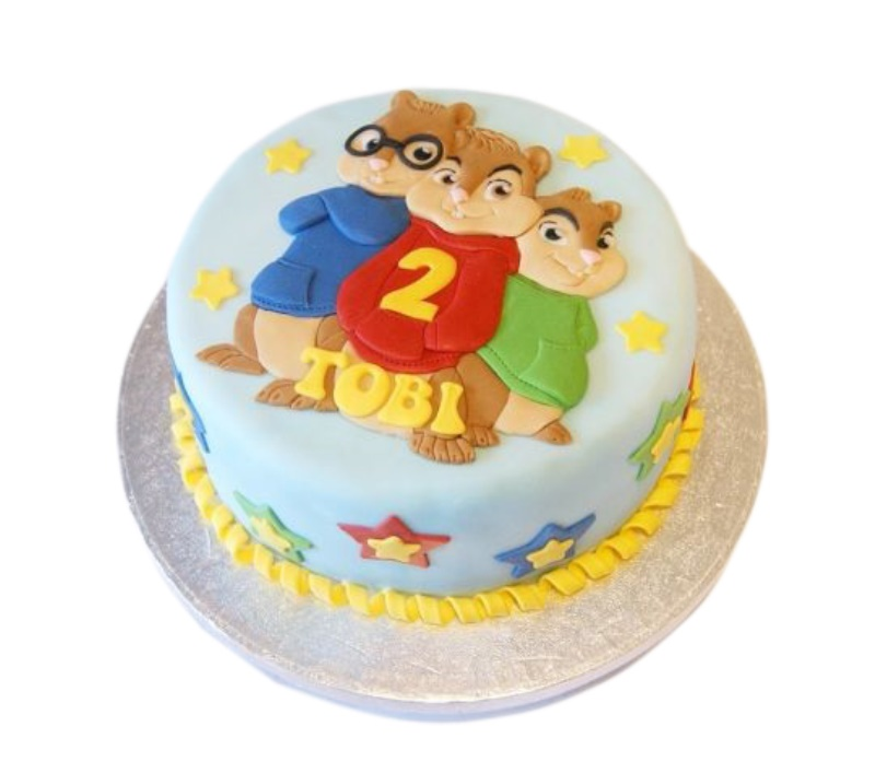 Wondrous Alvin Chipmunks Cake Funny Birthday Cards Online Alyptdamsfinfo