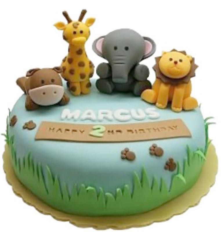 Animal theme Cake