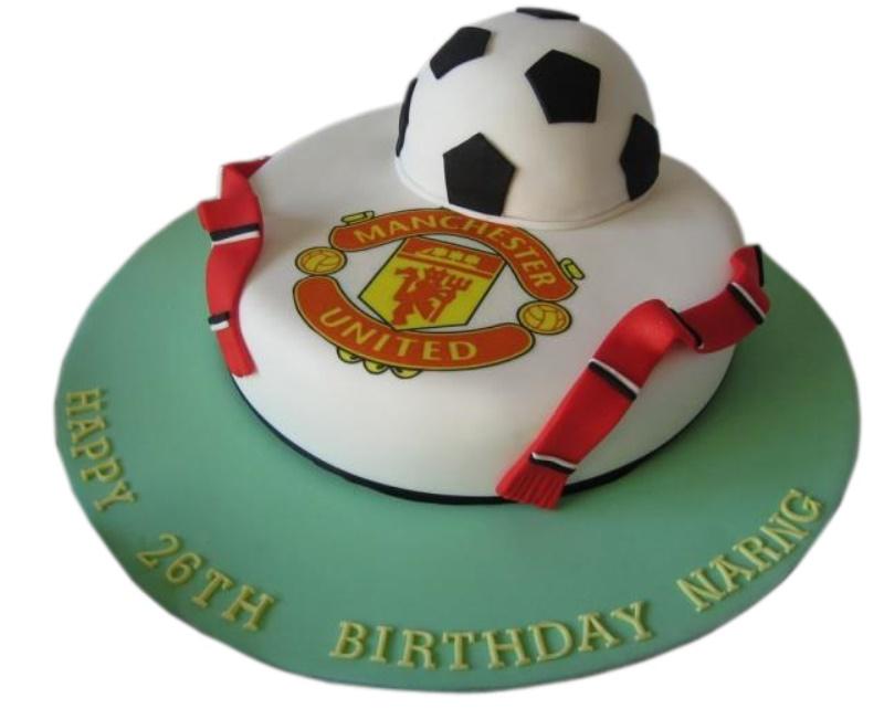 Manchester Football Birthday Cake