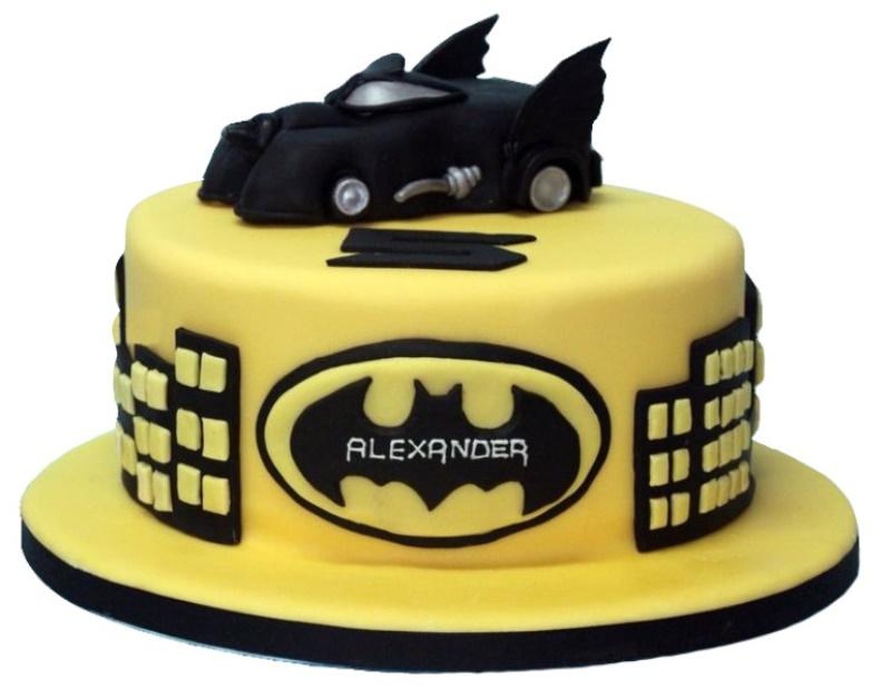 Fine Batmobile Batman Birthday Cake Birthday Cards Printable Opercafe Filternl