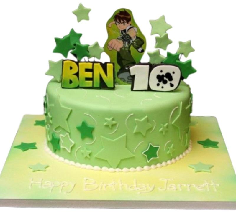 Super Ben 10 Birthday Cake Personalised Birthday Cards Paralily Jamesorg
