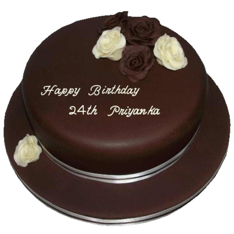 Sensational Birthday Cake For 24Th Personalised Birthday Cards Veneteletsinfo