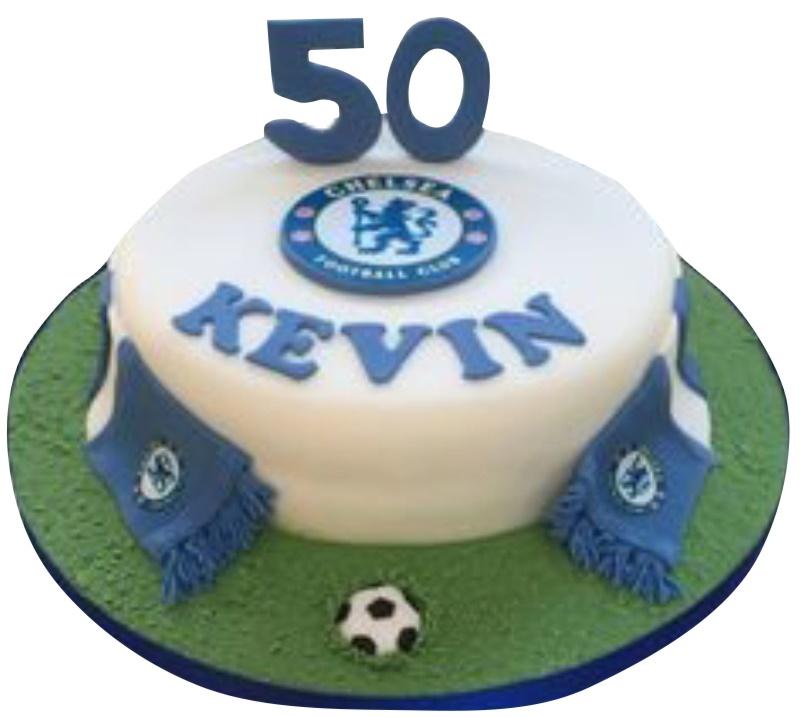 Wondrous Chelsea Fc Cake Personalised Birthday Cards Veneteletsinfo