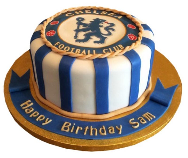 Remarkable Chelsea Football Club Cake Personalised Birthday Cards Veneteletsinfo