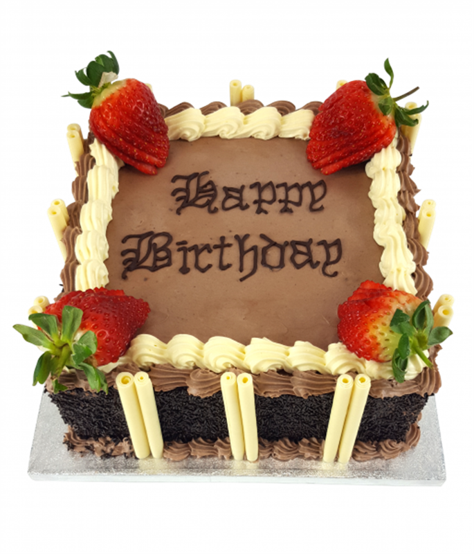 Chocolate Birthday Cake With Strawberry