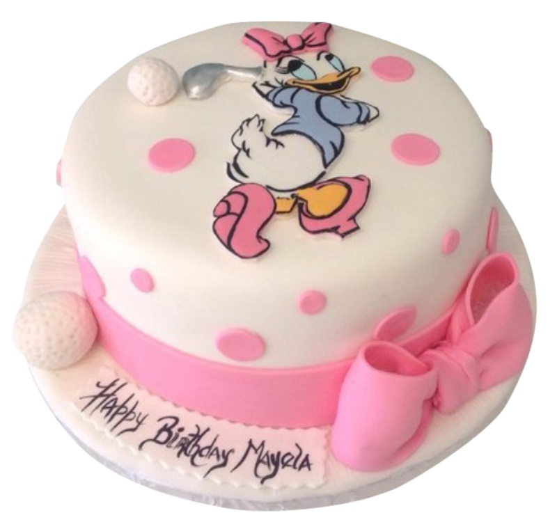 Stupendous Daisy Duck Cake Personalised Birthday Cards Paralily Jamesorg