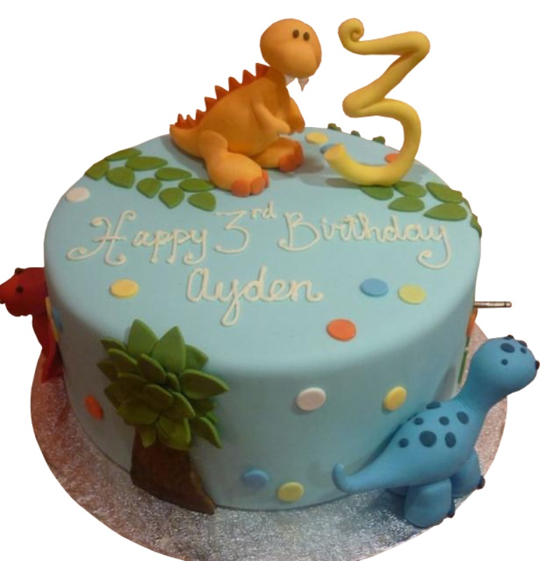 Peachy Dinosaur Birthday Cake For Kids Personalised Birthday Cards Bromeletsinfo