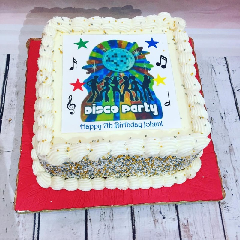 Remarkable Disco Birthday Cake For Kids Funny Birthday Cards Online Hendilapandamsfinfo