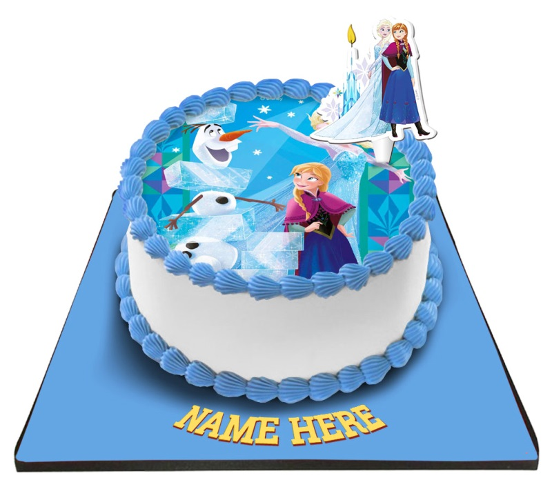 Disney Frozen Princess Cake with Frozen Candle
