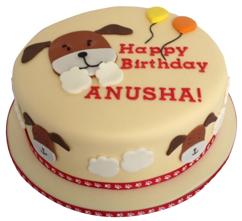 Pleasing Dog Birthday Cake Funny Birthday Cards Online Fluifree Goldxyz