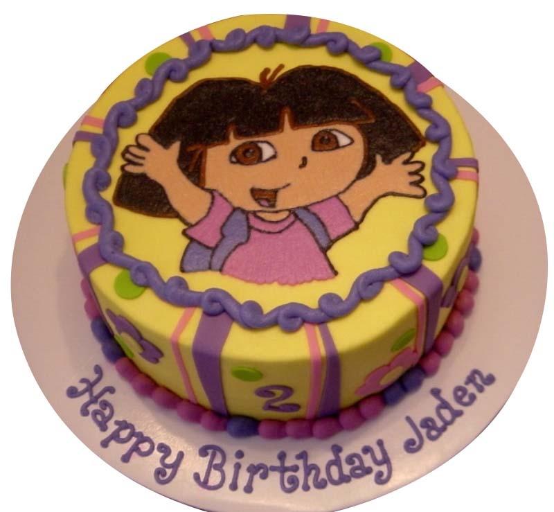Strange Dora Cake Birthday Cards Printable Benkemecafe Filternl