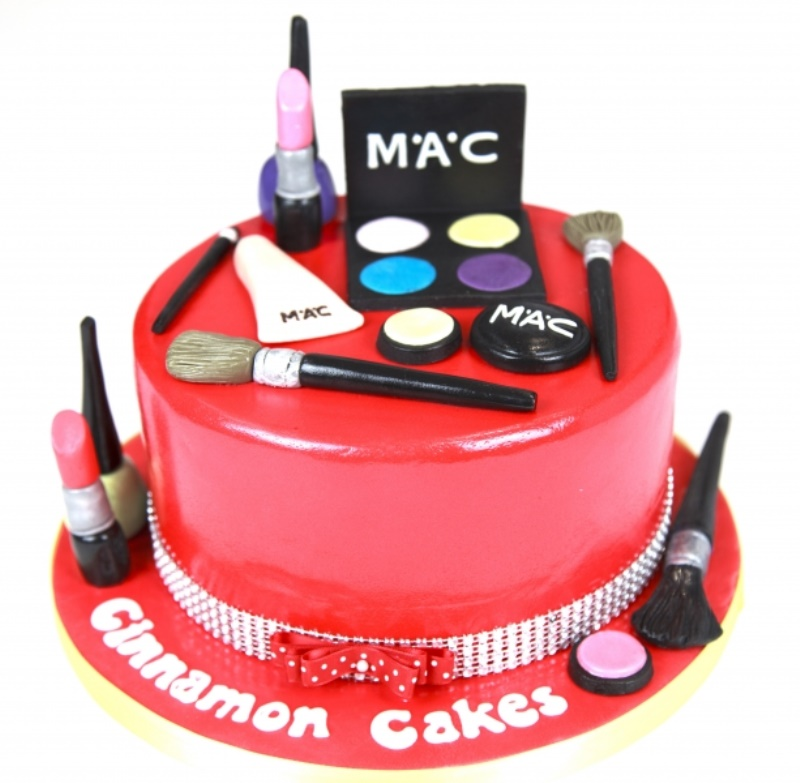 Swell Edible Makeup Birthday Cake For Her Personalised Birthday Cards Paralily Jamesorg