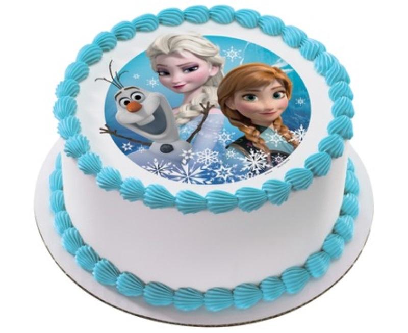 Elsa & Anna Frozen Cake