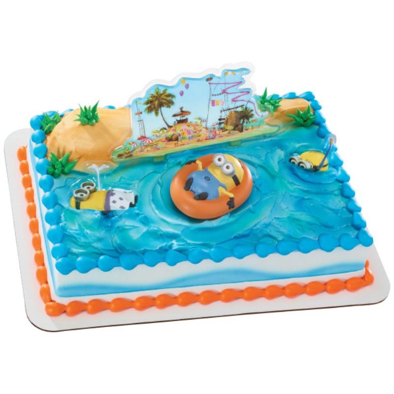 Swell Beach Themed Minion Birthday Cake For Kids Funny Birthday Cards Online Fluifree Goldxyz